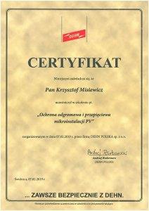 Certyfikat DEHN